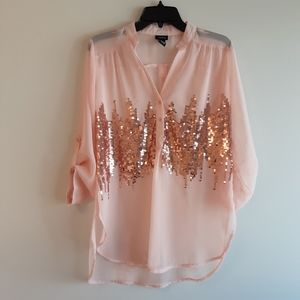 Rue21 sheer sequins blouse
